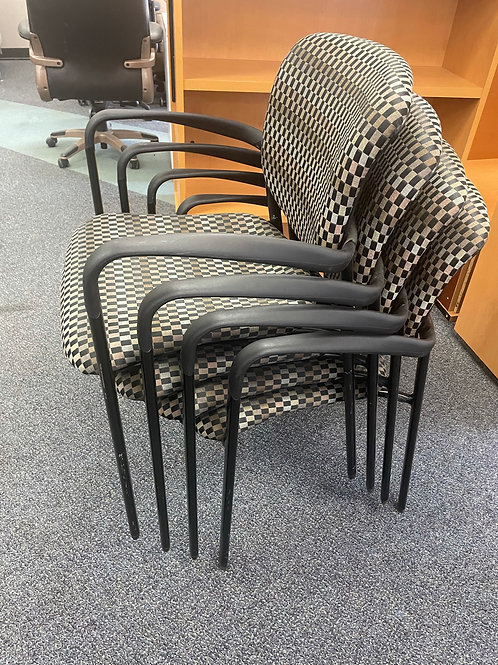 Set of Four Haworth Improv Stack Chairs