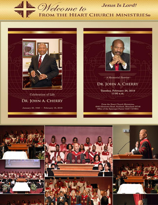 Celebration of Life for Our Founding Pastor of From the Heart Church Ministries Worldwide™