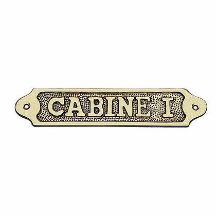 Türschild CABINE I  - 18,5cm