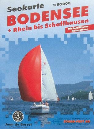 Seekarte Bodensee + Rhein  1 : 50000