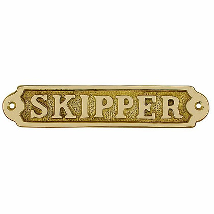 Türschild SKIPPER - 17cm