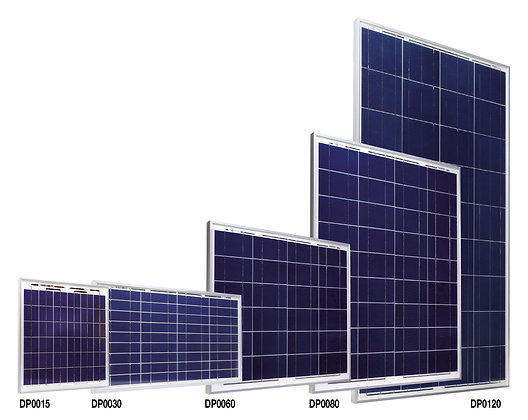Gerahmte Solarmodule / 15 - 120Watt