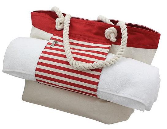Strandtasche mit Badetuchhalter