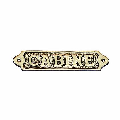 Türschild CABINE - 14,5cm