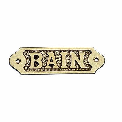 Türschild BAIN - 11cm