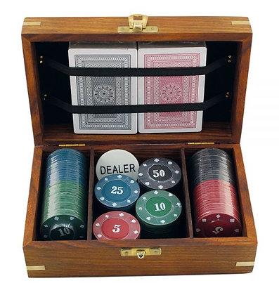 Poker - Spiel mit 100 Chips