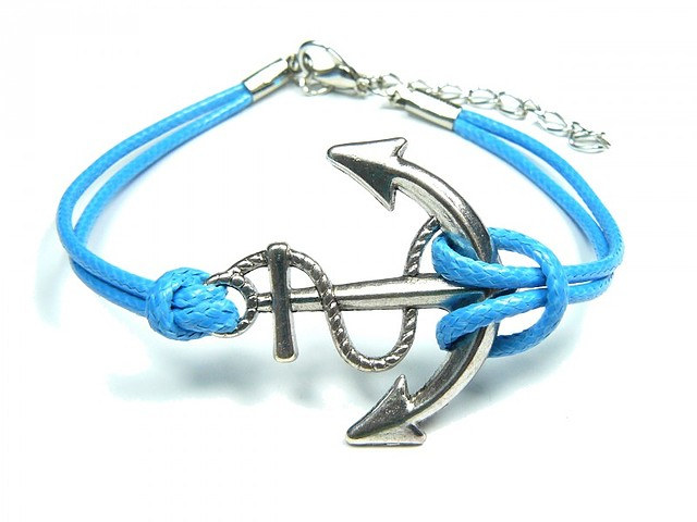 Armband mit Anker - azure SMA Nautic Sho
