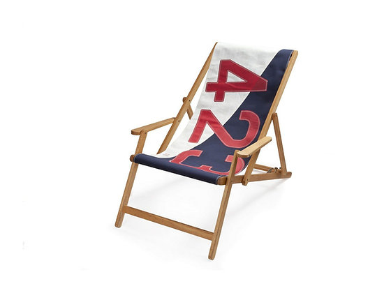 Liegestuhl aus 100% Original Segelstoff - 423