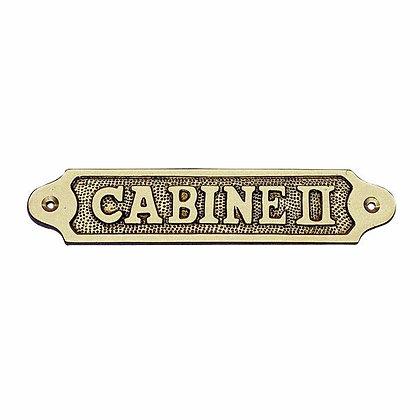 Türschild CABINE II - 18,5cm