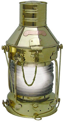 Ankerlampe Elektrisch aus Messing - 48cm
