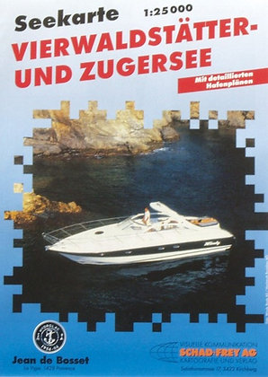 Seekarte Vierwaldstätter + Zugersee  1 : 25000
