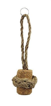 Schlüsselanhänger Korkpfropfen mit Seil