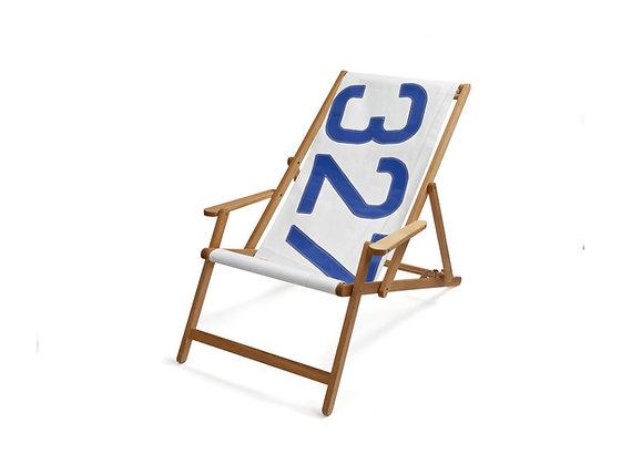 SAIL - Liegestuhl, aus echtem Segelstoff / No. 327