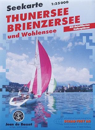 Seekarte Thuner, Brienzer + Wohlensee  1 : 25000