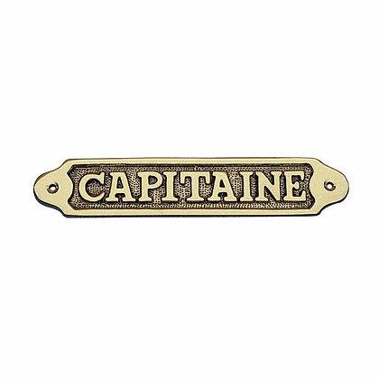 Türschild CAPITAINE - 19cm