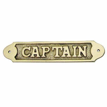 Türschild CAPTAIN - 16cm