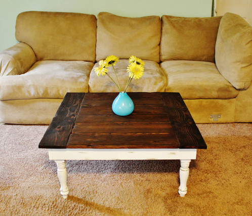 Order A Custom Coffee Table Suit Your Needs. This Style Of Table Has The  Decorative Turned Leg Design And Features Bread Board Ends On The Tabletop.