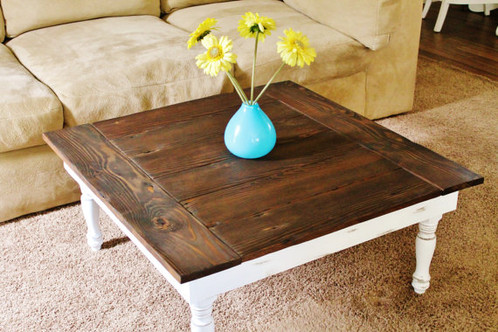 Awesome Order A Custom Coffee Table Suit Your Needs. This Style Of Table Has The  Decorative Turned Leg Design And Features Bread Board Ends On The Tabletop.