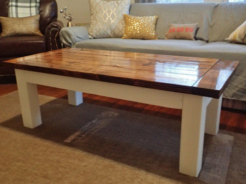 Order A Custom Coffee Table Suit Your Needs This Style Of Table Has The Rustic Square Leg Design And Features Bread Board Ends On The Tabletop