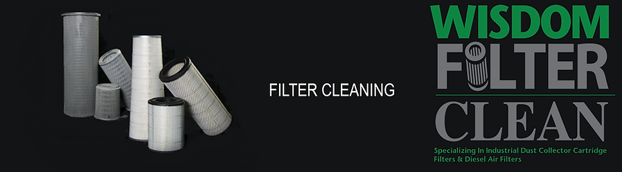 Wisdom Filter Clean cleans Industrial Cartridge filters and Diesel Intake Filters