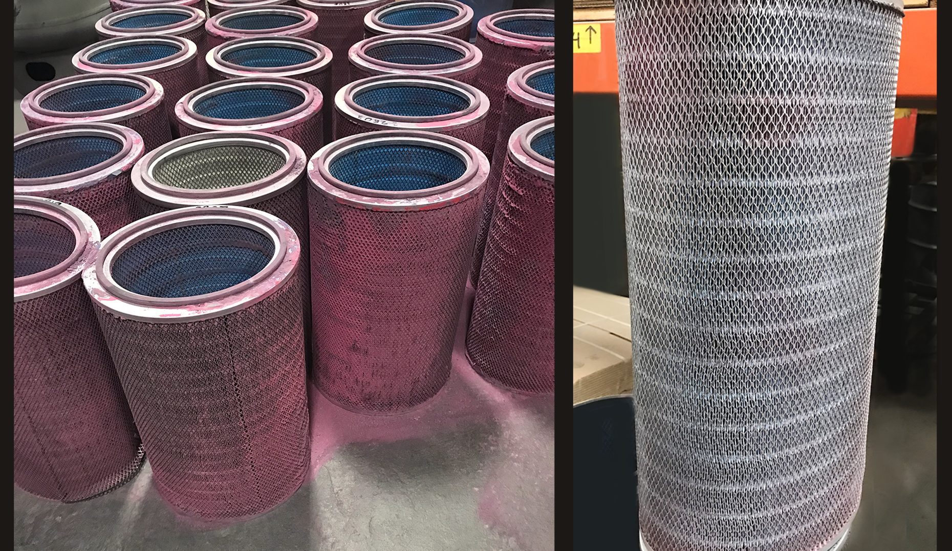 Industrial Powder Coat Filters Before-Af