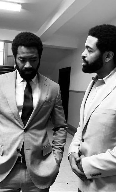 """With Nicholas Pinnock on set of ABC's """"FOR LIFE"""""""
