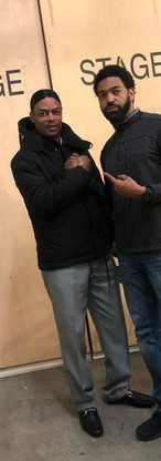 """With Isaac Wright, Jr. on the set of ABC's television drama """"FOR LIFE"""""""