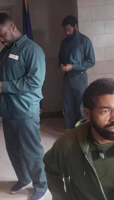 """With Curtis """"50 Cent"""" Jackson and Nicholas Pinnock on the set of ABC's television drama """"FOR LIFE"""""""