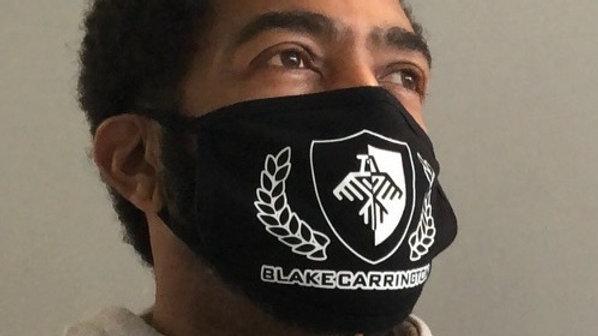 Blake Carrington Logo Facemask