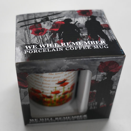 Porcelain Coffee Cup - We Will Remember Them