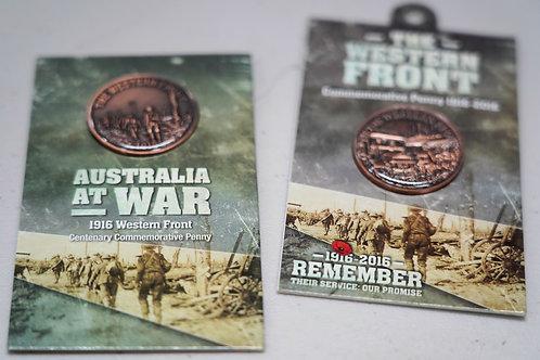 Australians at War Centenary Commemorative Penny