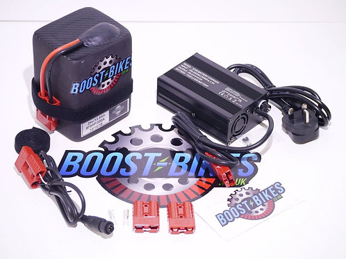 24v Boost Bike Lithium Ion Battery & Charger For 12.5