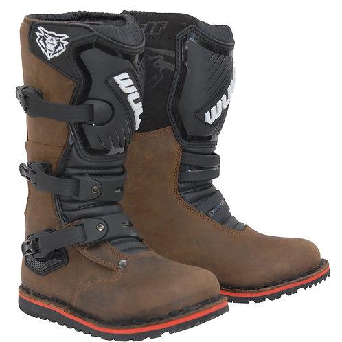 Wulfsport Cub Trials Boots - Brown