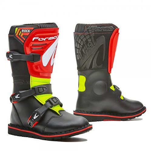 FORMA BOOT ROCK KID BLACK/RED/FLUO YELLOW