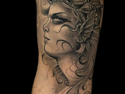 Neotraditional Tattoo by Christian Brito