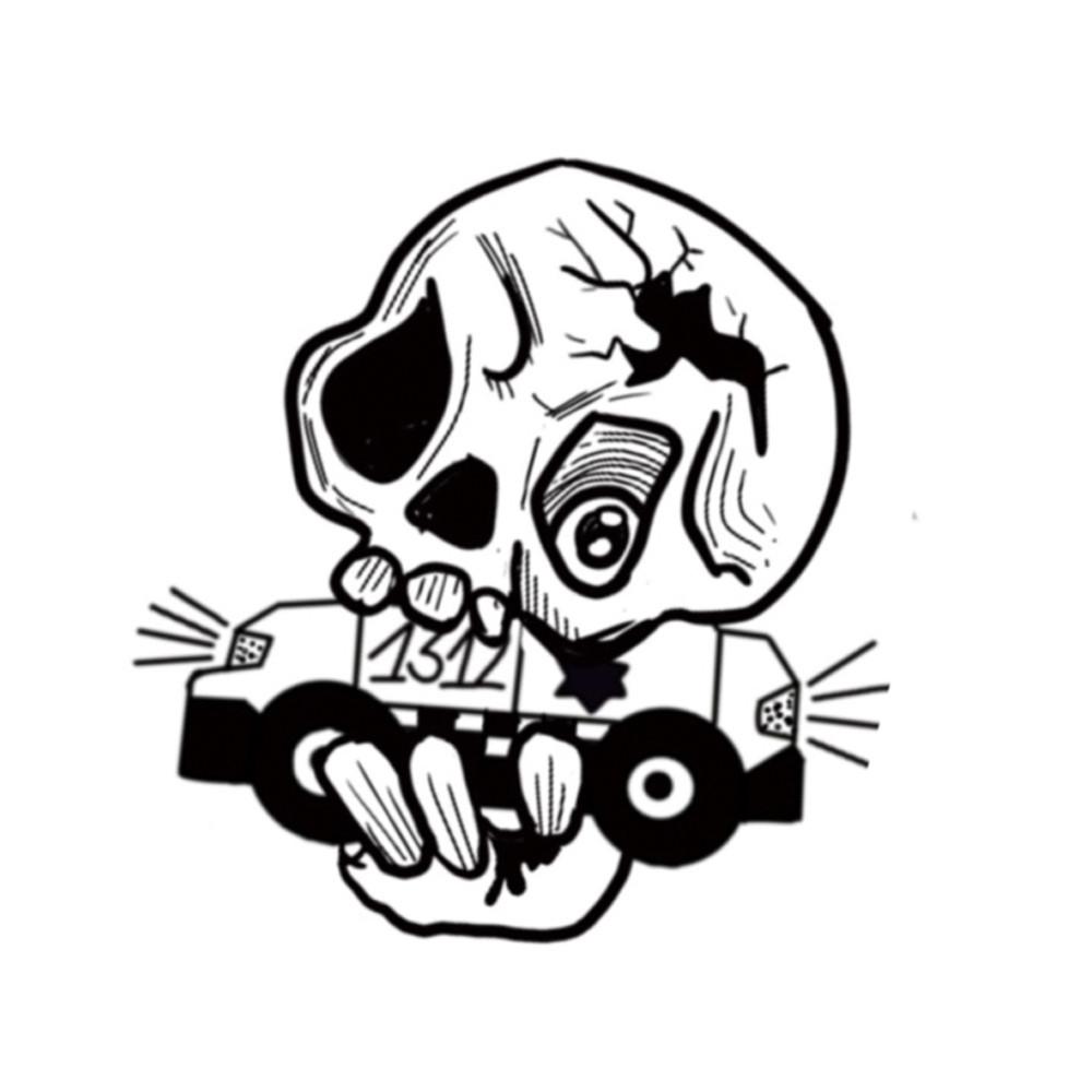 Cop Car Skull