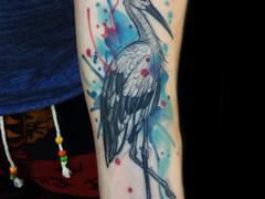 Watercolour tattoo by Aygul Bayanova
