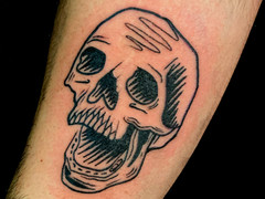 Blackwork tattoo by Avram Nikolic