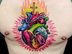 New School Tattoo by Christian Brito