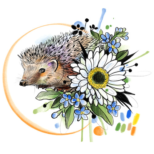 Hedgehog and Daisy