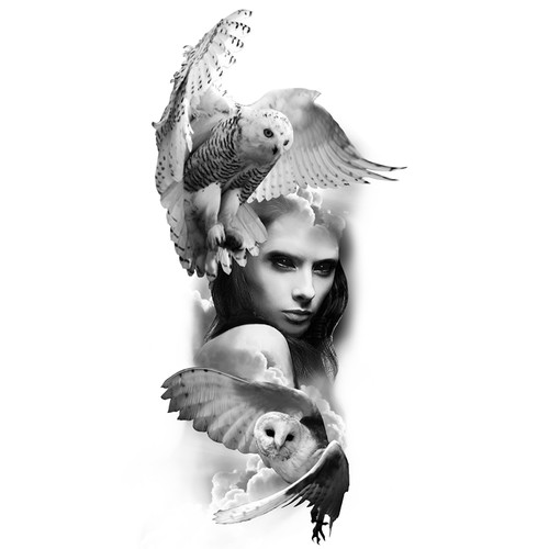 Girl and Owls