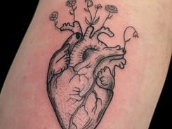 Fineline tattoo by Avram Nikolic