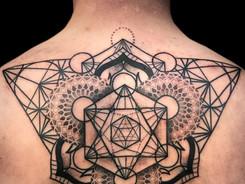 Geometric Ornamental Tattoo by Kalum Hopkins