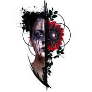 Girl and Black Dahlia