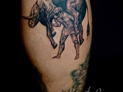Fineline tattoo by Avram Nikolic