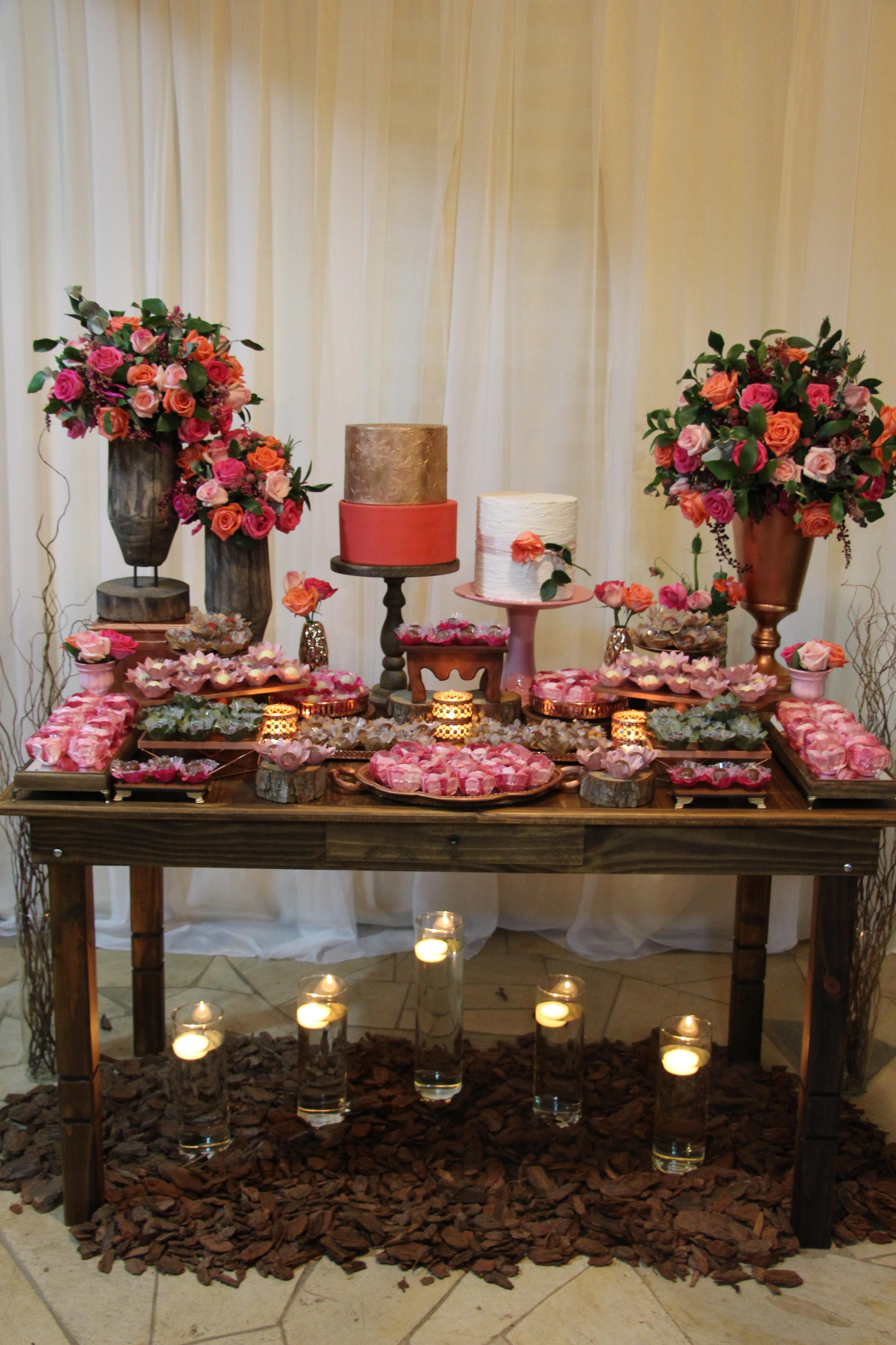Festa rosé rústica