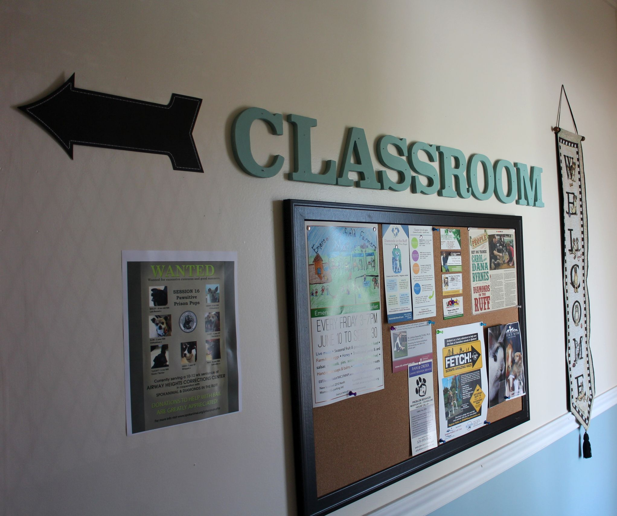 Classroom this way