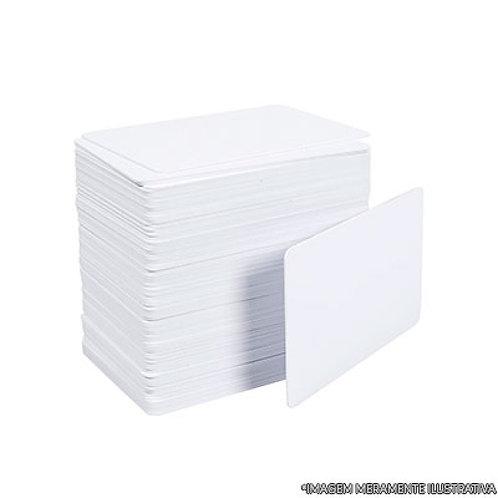 Cartão de PVC Branco para Crachá - 100 und.