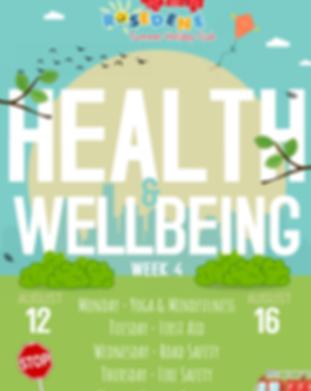 Week 4 - Health & Wellbeing