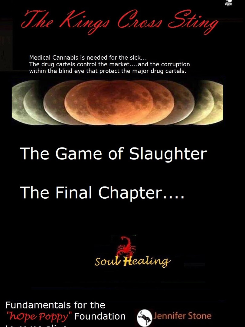 The game of slaughter is very alive in Kings Cross.  Some call it the Canabal Club others call it the Scorpion gang and the unsolved murders where the body goes missing forms a pattern I expose to the authorities and the world.